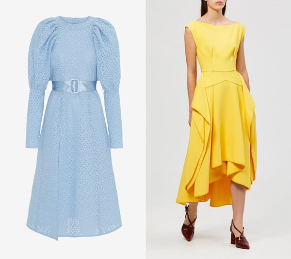 trending race dresses blue and yellow dress